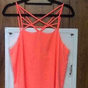 Express Bright Coral Top